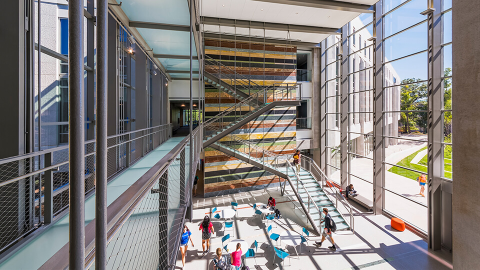Global and International Studies Building Atrium